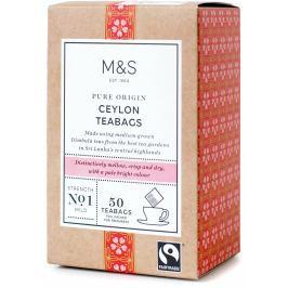Marks & Spencer Cejlonský čaj v nálevových sáčcích