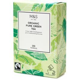 Marks & Spencer Zelený organický čaj v nálevových sáčcích