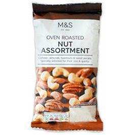 Marks & Spencer Směs v troubě pražených solených kešu, mandlí , lískových a pekan ořechů