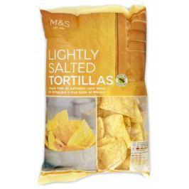 Marks & Spencer Mírně solené kukuřičné tortilla chipsy