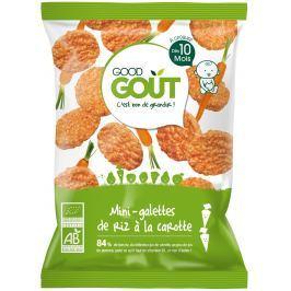 Good Gout BIO Mini rýžové koláčky s mrkví