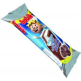 Bobík řez s mléčnou náplní a kakaovou polevou