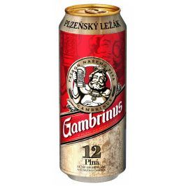 Gambrinus pivo Plná 12 plech
