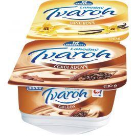 Milko Tvaroh vanilkový/čokoládový, 2x130g,