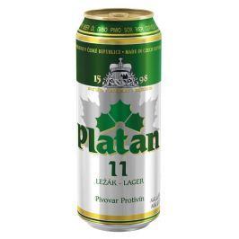 Platan 11 světlý ležák pivo plech