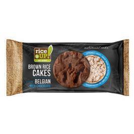 Rice Up Celozrnné rýžové chlebíčky - s mléčnou belgickou čokoládou