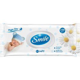 Smile baby Vlhčené ubrousky heřmánek, aloe vera s plastovým uzávěrem 100ks