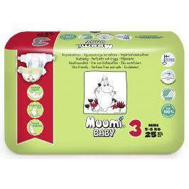 Muumi Baby eko dětské plenky Midi 5-8kg (velikost 3) 25ks