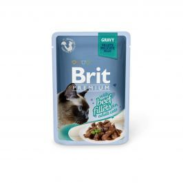 Brit Premium Cat Delicate Fillets in Gravy with Beef 85g