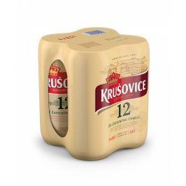 Krušovice 12 pivo ležák světlý Pack, plech 4x0,5l