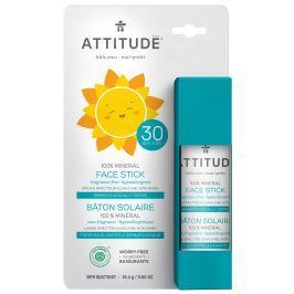 Attitude dětská 100% minerální ochranná tyčinka na obličej a rty bez vůně (SPF 30)