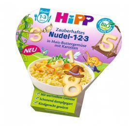 HiPP BIO Těstoviny 123 s kukuřicí, zeleninou a mrkví