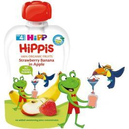 HIPP BIO 100% ovoce Jablko-Banán-Jahoda