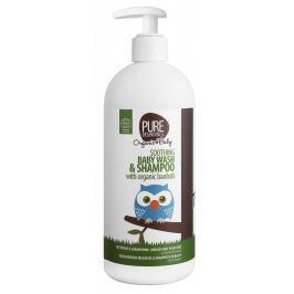 Pure Beginnings BIO Zklidňující tekuté mýdlo a šampon s baobabem