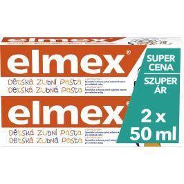 Elmex pro děti červený - zubní pasta 2x50ml