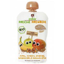 erdbär Freche Freunde Ovocná kapsička mango, banán, rakytník a pohanka