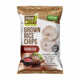 Rice Up Celozrnné rýžové chipsy - barbecue