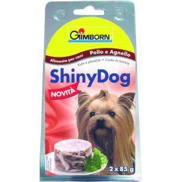ShinyDog konzerva kuřecí+jehněčí 2x85g