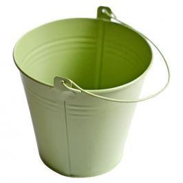 Květináč na bylinky kovový zelený, výška 13,5cm Ø 13cm, 1ks