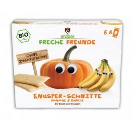erdbär Freche Freunde BIO Křupavé oplatky banán a dýně 6x14g