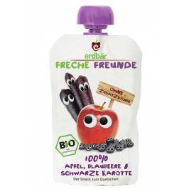 erdbär Freche Freunde BIO Ovocná kapsička jablko, borůvka a černá mrkev
