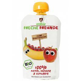 erdbär Freche Freunde BIO Ovocná kapsička banán, jablko a malina