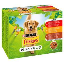 Friskies Adult pro psy - hovězí, kuře a jehněčí ve šťávě 12x100g