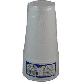 Plastový kelímek bílý 0,5l, 10ks