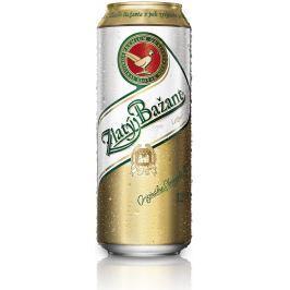 Zlatý Bažant pivo ležák světlý, plech