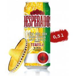 Desperados pivo speciální světlé ochucené s příchutí Tequily plech