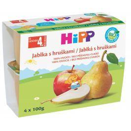 HiPP 100% ovoce Bio Jablka s hruškami (4x100g)
