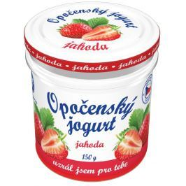 Bohemilk Opočenský jogurt ve skle jahoda