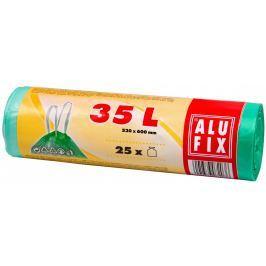 Alufix Pytle na odpadky zelené zatahovací 35l, 25ks