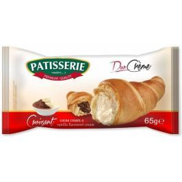 Patisserie Croissant s kakaovým a vanilkovým krémem