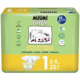 Muumi Baby eko plenky Newborn 2-5kg (velikost 1) 25ks