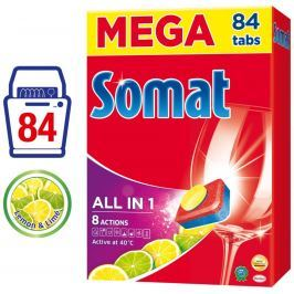 Somat All in 1 Lemon & Lime tablety do myčky 84ks