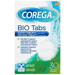 Corega Bio Tabs čistící tablety na zubní náhrady 30ks