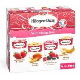 Häagen-Dazs Fruit Attraction multipack 4x100ml