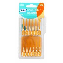 TePe Easy Pick mezizubní párátka s cestovním pouzdrem, vel. XS/S oranžové, 36ks
