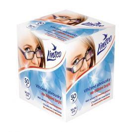 Linteo vlhčené čistící ubrousky na brýle 50ks