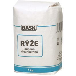 BASK rýže loupaná dlouhozrnná 1kg