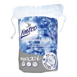 Linteo Premium Vatové polštářky maxi ovály se stříbrem 40ks