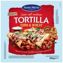 Santa Maria Tex Mex Pšenično-kukuřičná tortilla 20cm 8ks