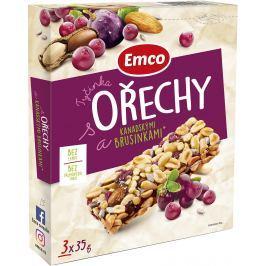 Emco Tyčinky s Ořechy a kanadskými brusinkami