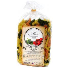 Dobšické těstoviny MIX (rajčatové,špenátové,nevaječné) vřetena