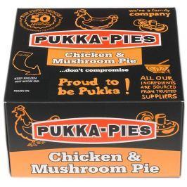 Pukka Pies Chicken&Mushroom Pie (Koláč s kousky kuřete a houbami)