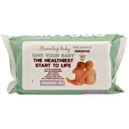 Beaming baby Organické vlhčené ubrousky bez vůně 72ks