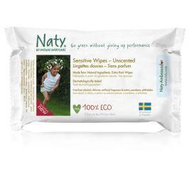 Naty Nature Babycare ECO vlhčené ubrousky bez vůně 20ks - pro citlivou pokožku - cestovní balení