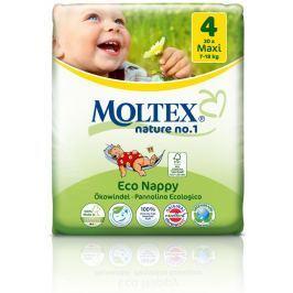 Moltex nature no. 1 Jednorázové dětské bio plenky Maxi 7-18kg (velikost 4) 30ks