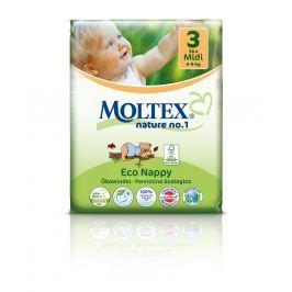 Moltex nature no. 1 Jednorázové dětské bio plenky Midi 4-9kg (velikost 3) 34ks
